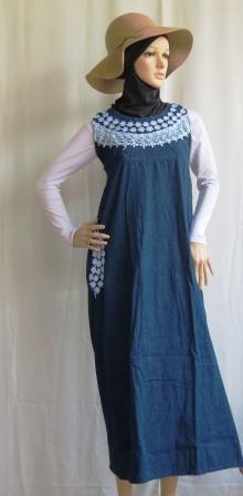 Gamis Tanpa Lengan Gj1097 Grosir Baju Muslim Murah Tanah