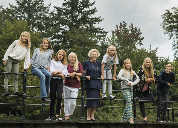 The Princess of Orange-Nassau and the Princess of Lippe-Biesterfeld. Johan Friso. Catharina-Amalia, Princess Alexia, Princess Ariane, Queen Maxima