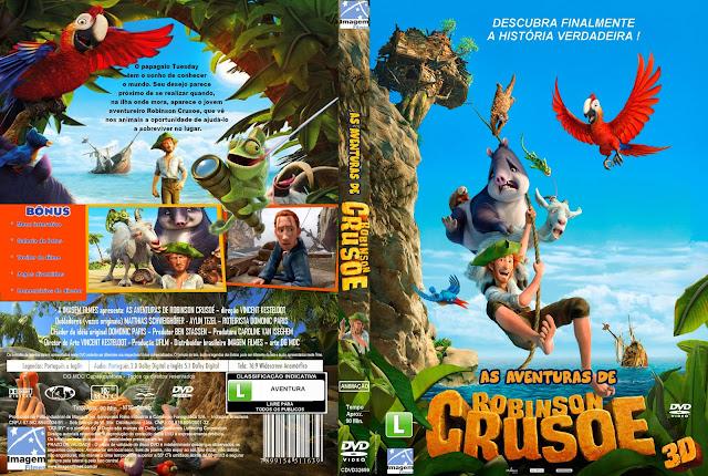 Capa DVD As Aventuras De Robinson Crusoe
