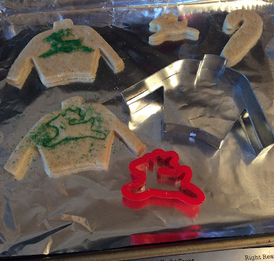 ugly sweater cookies, imprint image in Christmas cookie, stefanie girard