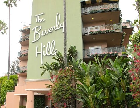 The Beverly Hills Hotel With Banana Leafs