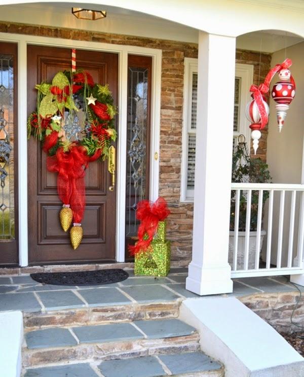 fachada decorada navidad