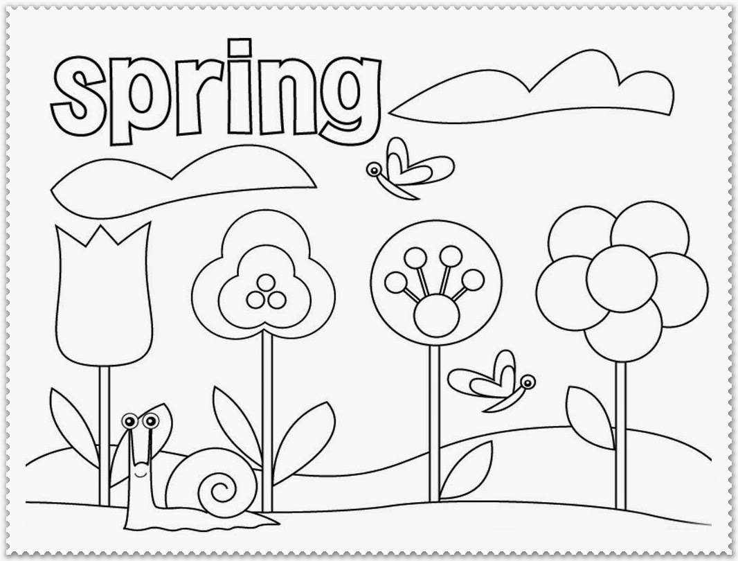 Spring Coloring Pages Printable Realistic Coloring Pages