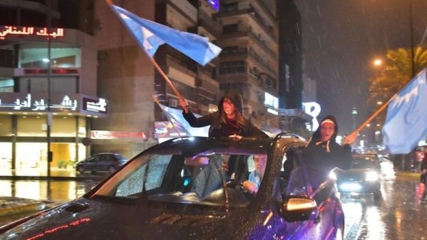 News of Mr. Hariri's return was celebrated by his supporters in Beirut