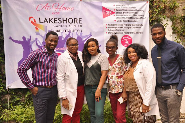 Rita Dominic at the Lakeshore Cancer Center in Victoria Island