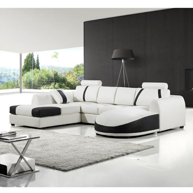 Modern Leather Sofa High Quality Living Room Furniture European - white leather living room furniture