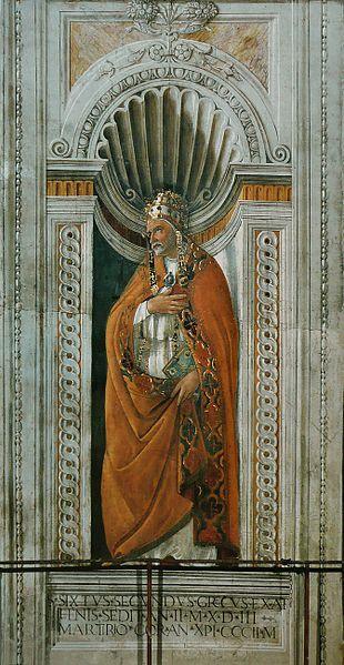 Saint Sixte de Boticelli