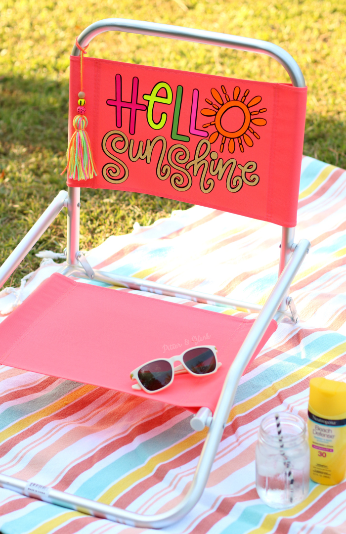 DIY Hello Sunshine Beach Chair