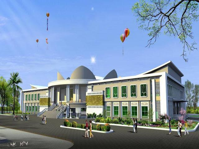 phối cảnh chính công trình trung tâm hội nghị chính trị tỉnh Trà Vinh