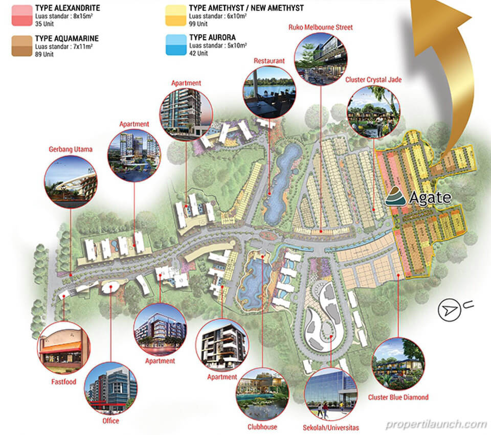 Master Plan Golden Stone Serpong