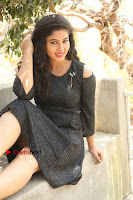 Telugu Actress Pavani Latest Pos in Black Short Dress at Smile Pictures Production No 1 Movie Opening  0127.JPG