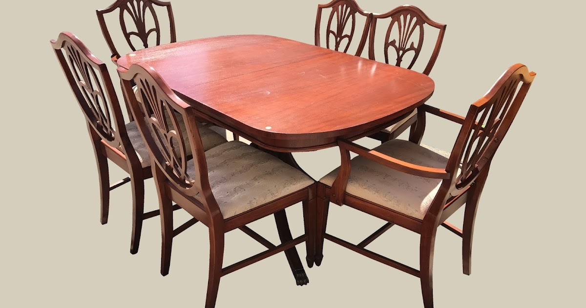 Uhuru Furniture Collectibles Mahogany Table 6 Chairs 295 Sold