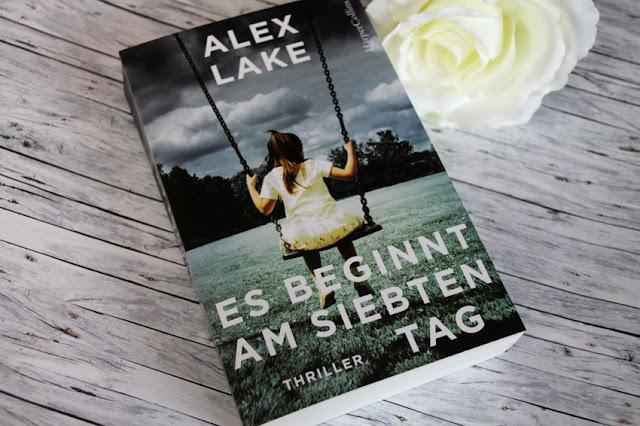 [Rezension] Alex Lake: Es beginnt am siebten Tag (Cover mit Mädchen auf einer Schaukel)