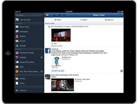 iPad Finally Has a Facebook Application