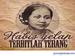 Habis Gelap Terbitlah Terang di Tulis okeh R. A.Kartini