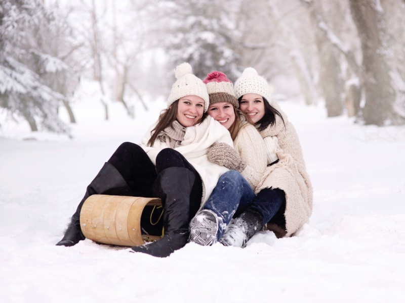 Download Girls on Toboggan HD wallpaper. Click Visit page Button for More Images.