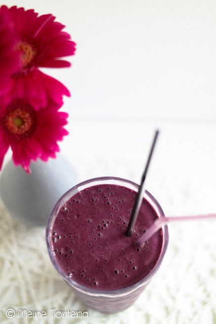 Heidelbeer-Quark-Smoothie