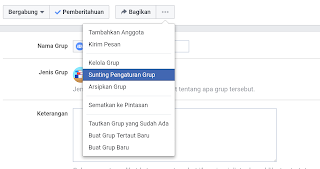 sunting grup facebook pada desktop