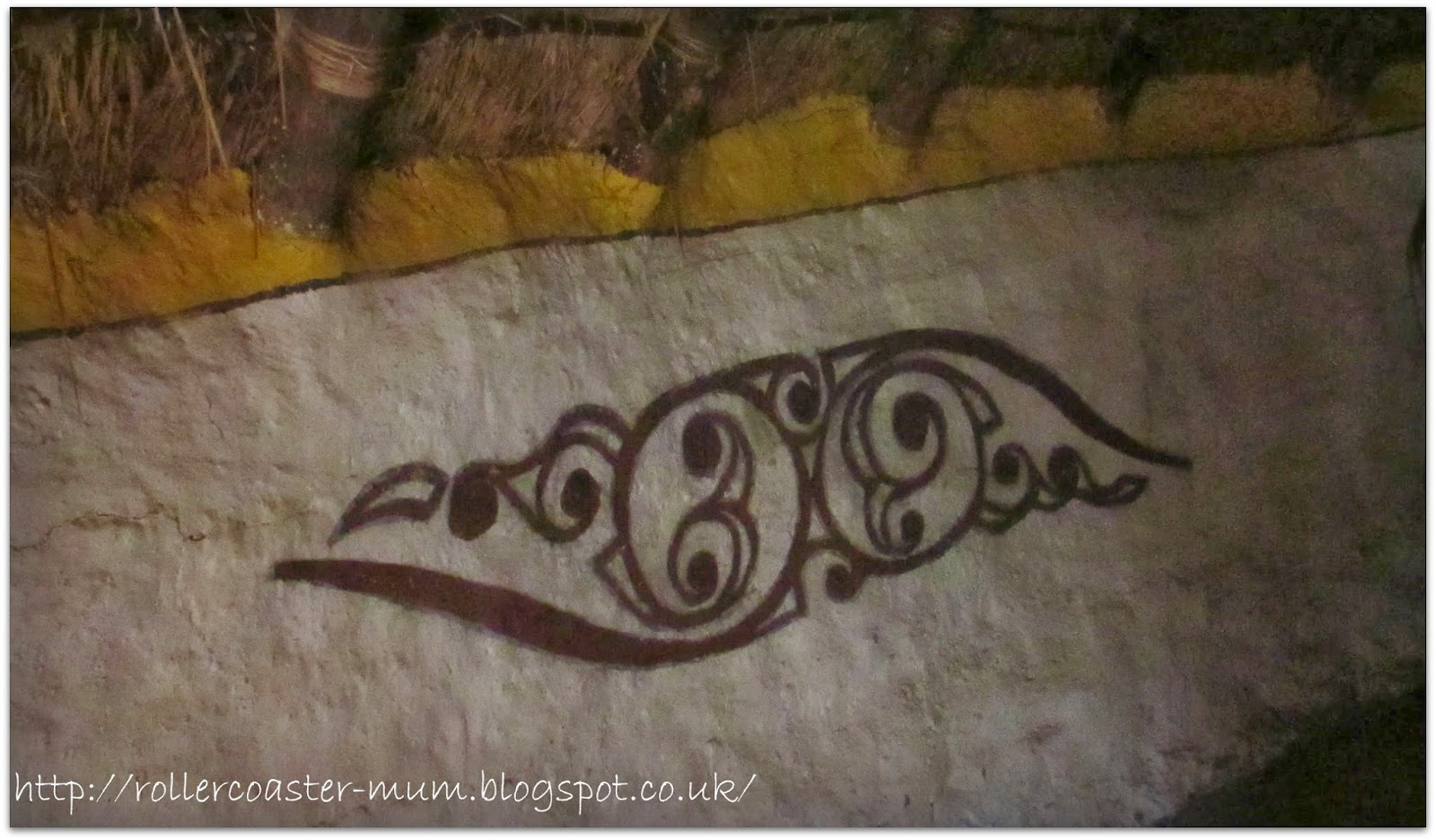 Celtic wall art - roundhouse - Butser Ancient Farm