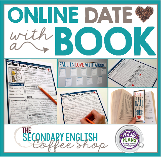 Help students find the perfect novel by sending them on an online date with a book.  Click to find out how to set this up in your classroom!