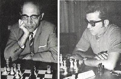 Los ajedrecistas Rafael Saborido y Manuel Vega