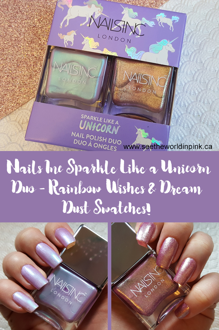 "Manicure Tuesday - Nails Inc Unicorn Nail Polish Duo ""Rainbow Wishes"" and ""Dream Dust"" Swatches"