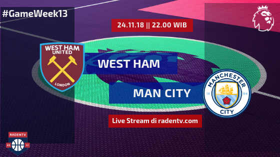 Streaming West Ham vs Man City
