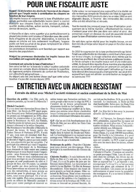 Les communistes du troisime Marseille JOURNAL QUARTIER ROUGE