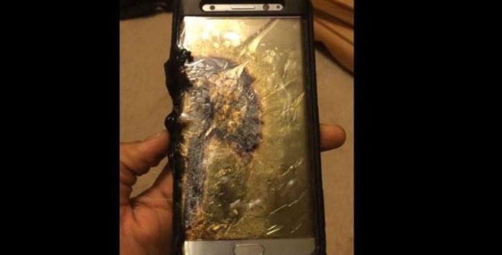 Baterai Samsung Galaxy Note 7 telah terbakar