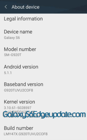 G920TUVU2COF8 T-Mobile Galaxy S6 Stock Firmware (SM-G920T