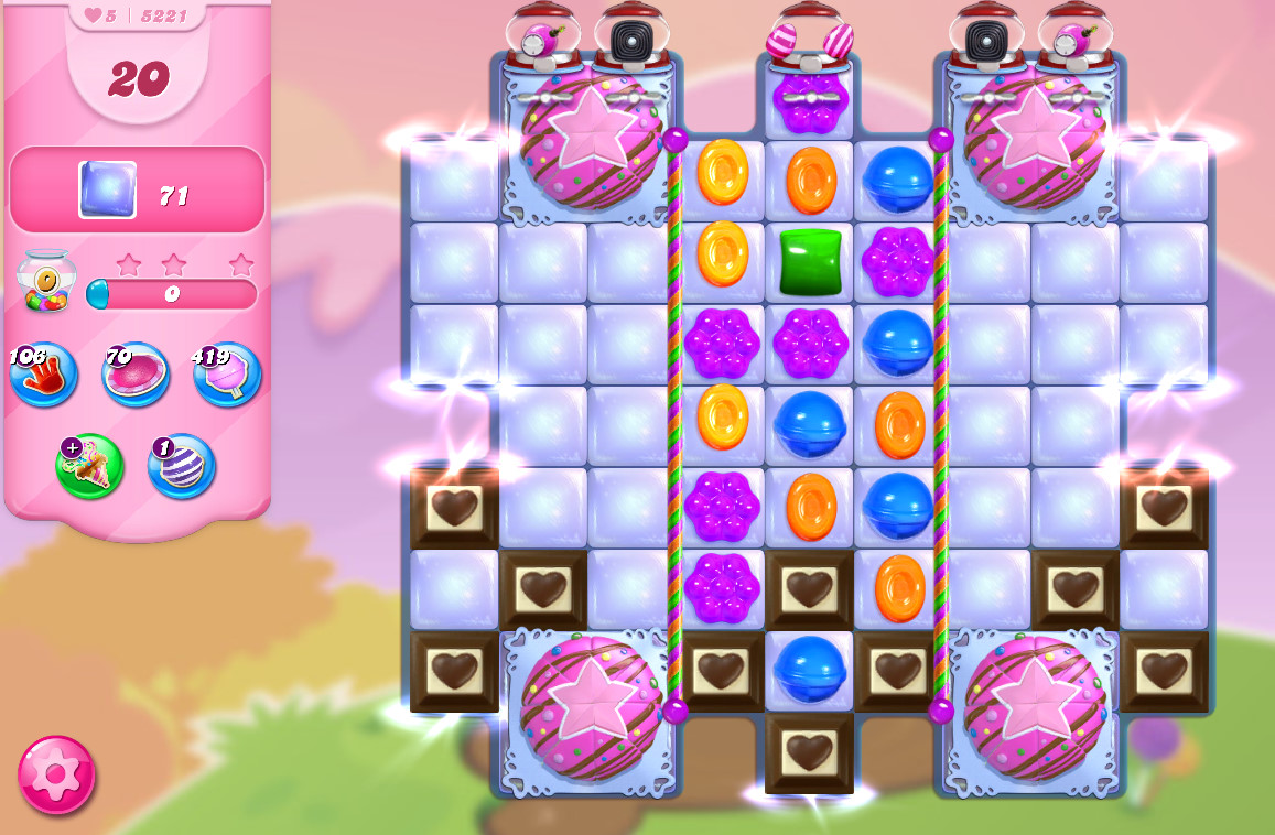 Candy Crush Saga level 5221