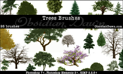 brushes arboles photoshop