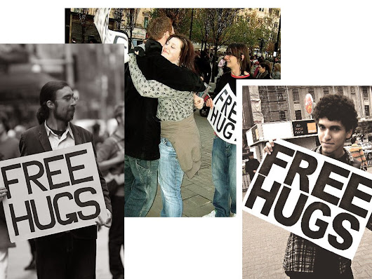 free hugs , spreading love, care, and more