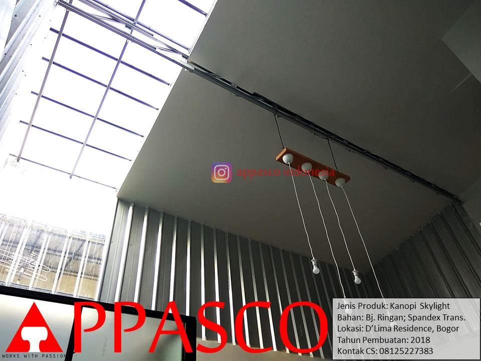 Kanopi Baja Ringan Spandek Transparan Skylight Atap Rumah di DLima Bogor