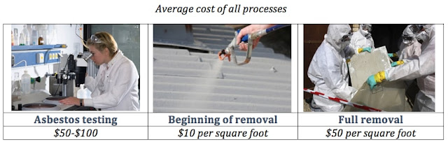 Average Asbestos Removal cost of all processes