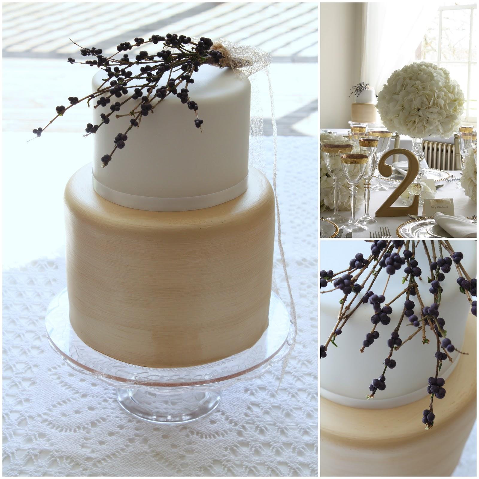 Modern Wedding Cakes: Tiers & Tiaras: Modern White And Gold Wedding Cake