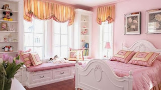 dormitorio adolescente rosa