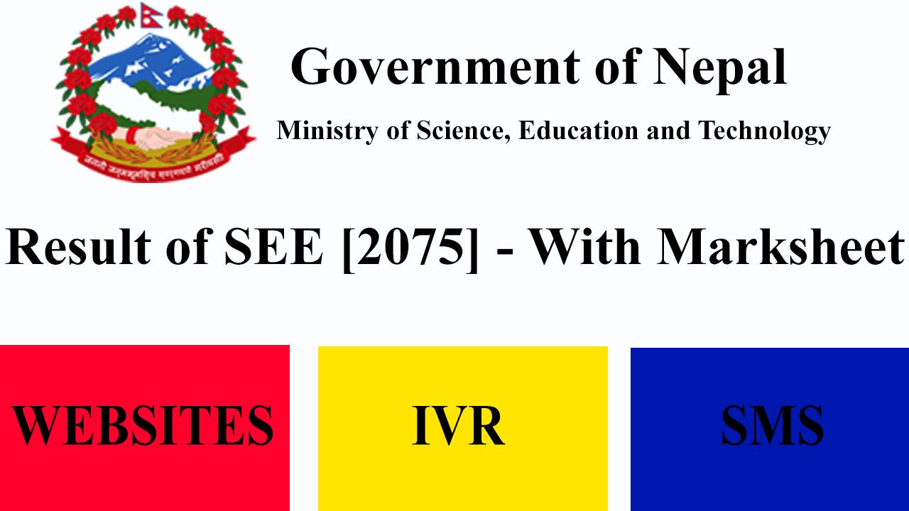 Result of SEE 2075 - With Marksheet - BirNepal com