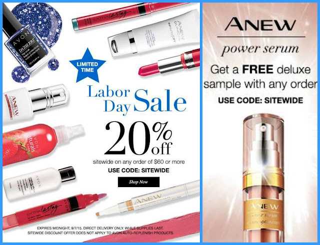 AVON Labor Day Weekend Sale!