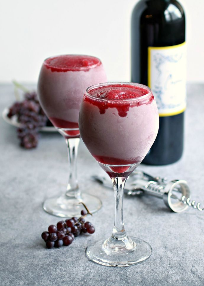 Strawberry Red Wine Slushies