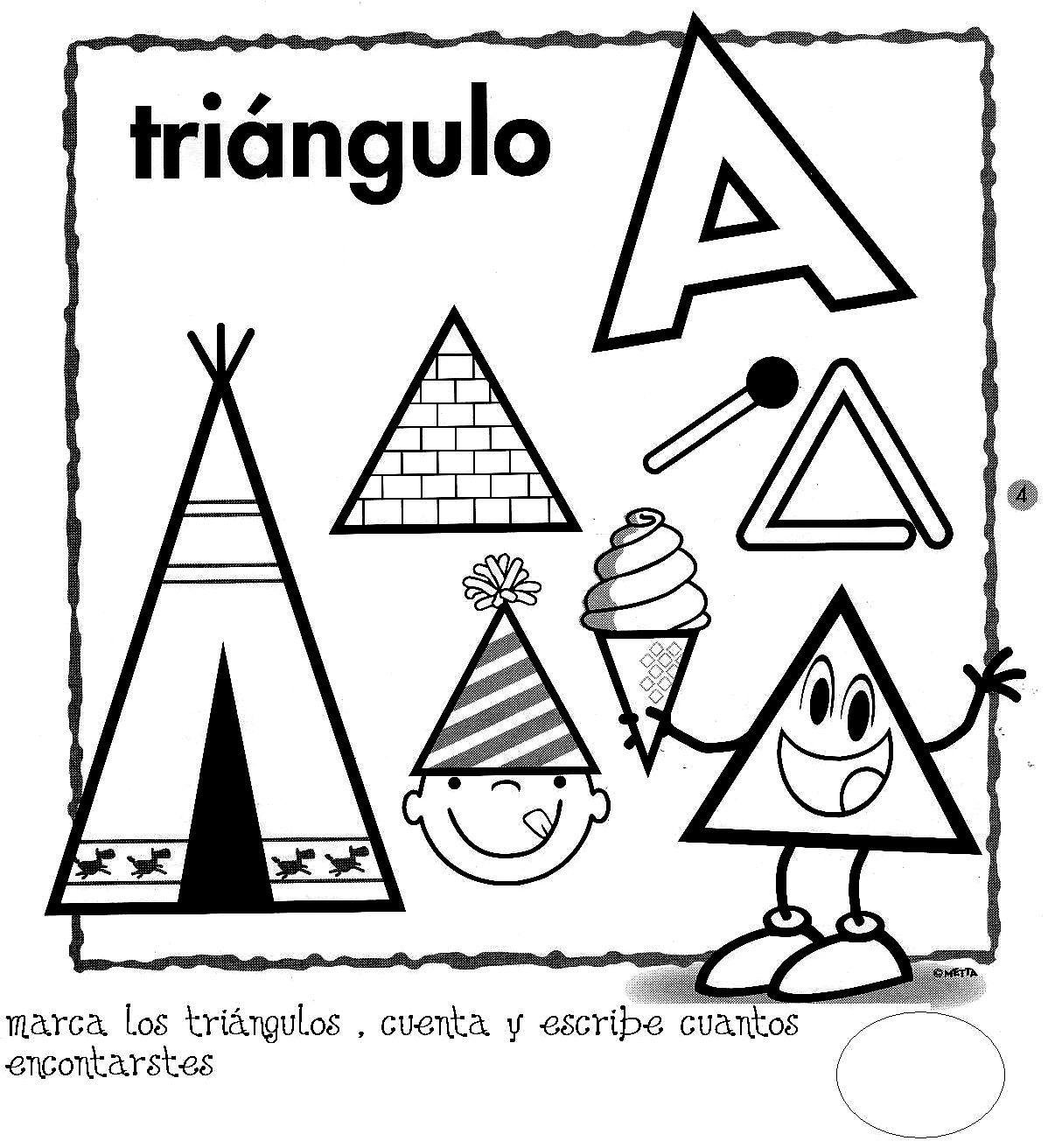 Objetos En Forma De Triangulo Para Recortar