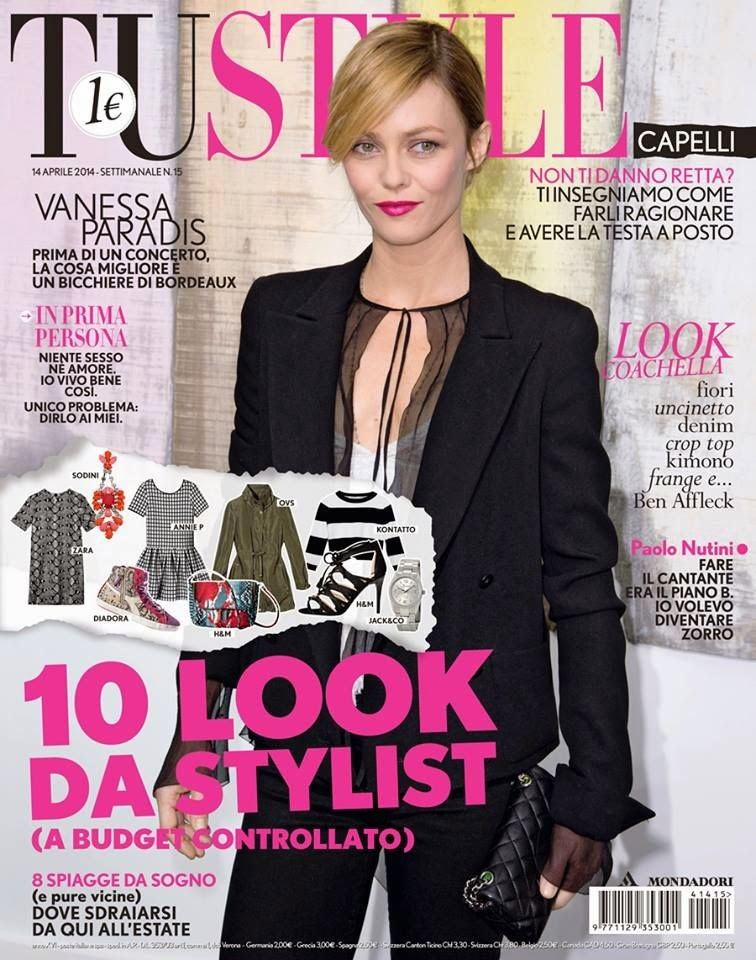 Tustyle Magazine November 2015 Issue: The Charmer Pages : Vanessa Paradis For Tu