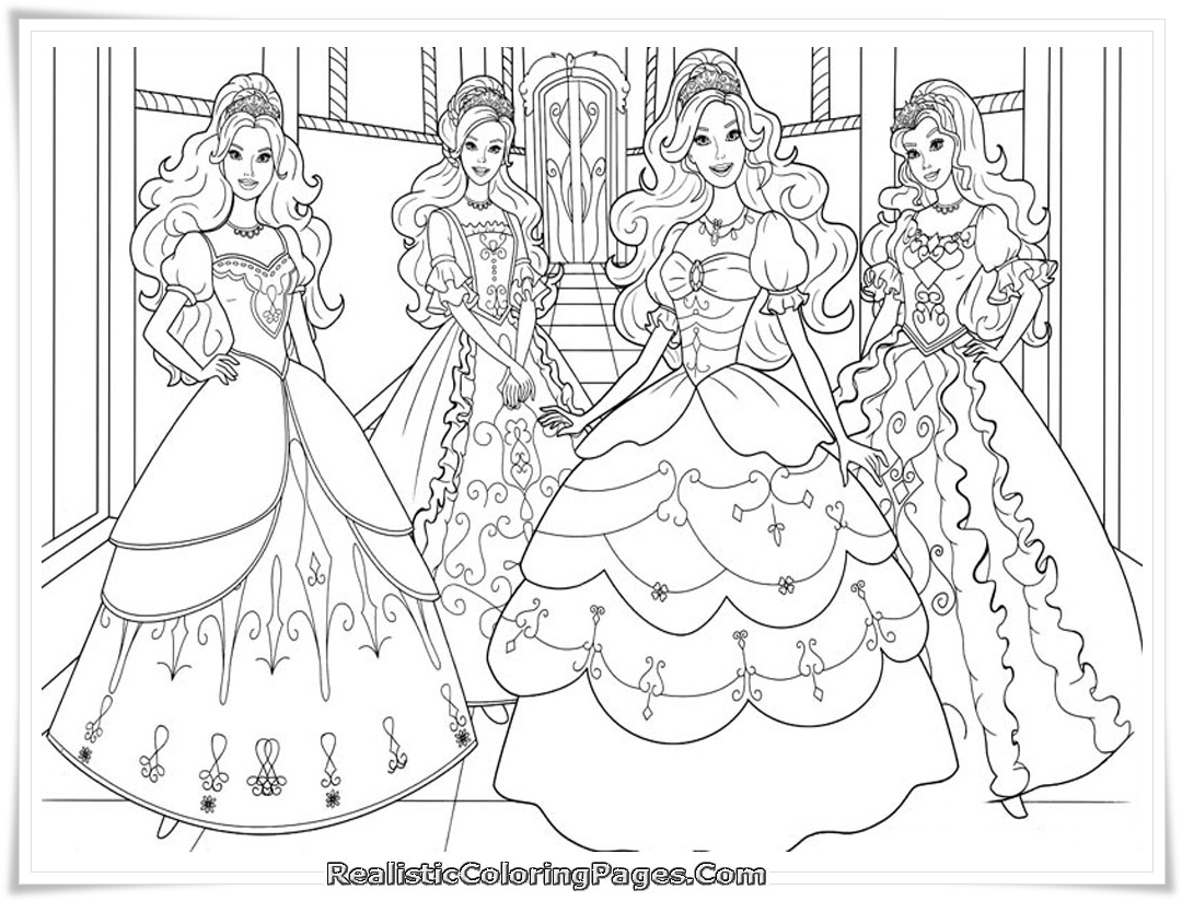Barbie Musketeers Printable Coloring Pages