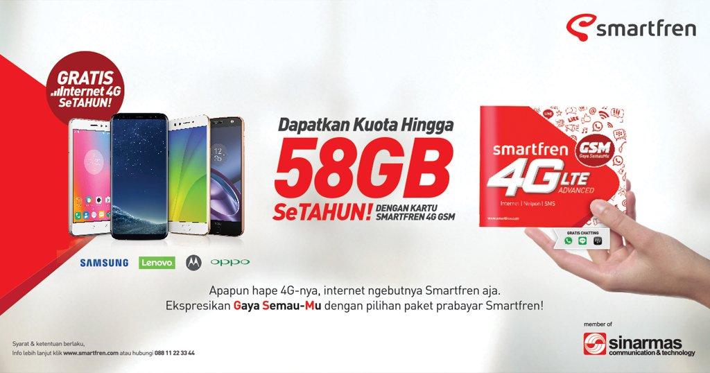 Cara Mendapatkan Paket Kuota 58 Gb Smartfren GSM Setahun