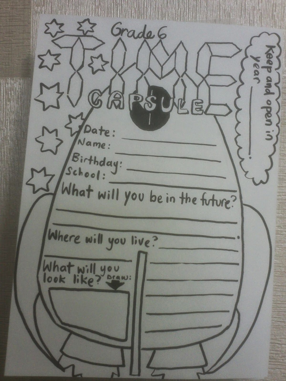 What Will You Do Time Capsule Project Mrs Baia S