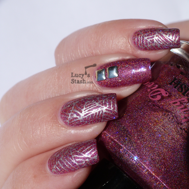 Lucy's Stash - abstract cobweb nail art