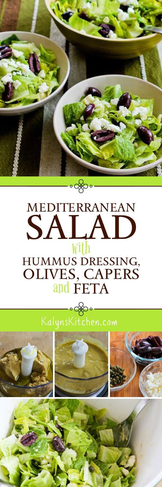 Mediterranean Salad with Hummus Dressing, Olives, Capers ...