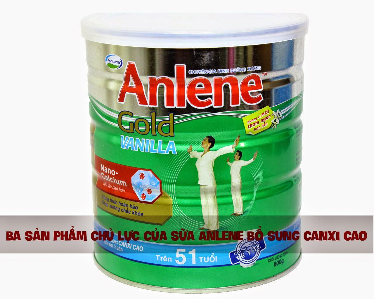 sữa bổ sung canxi Anlene Regular | sữa bổ sung canxi Anlene Gold | sữa bổ sung canxi Anlene Đậm Đặc 4X