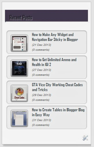 Sliding Recent Posts Widget for Blogger