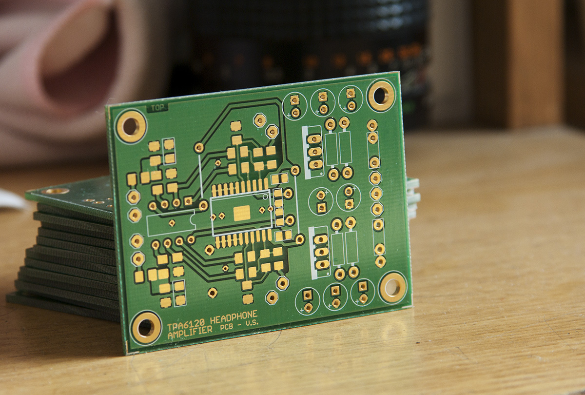 Tpa6120 Headphone Amplifier Composite Topology Diy Audio Blog Preamp Module Volume Control Board Since It Was The First Batch Of Pcbs I Had Some Problems With Silkscreen Printing However Its Not A Big Issue At Moment